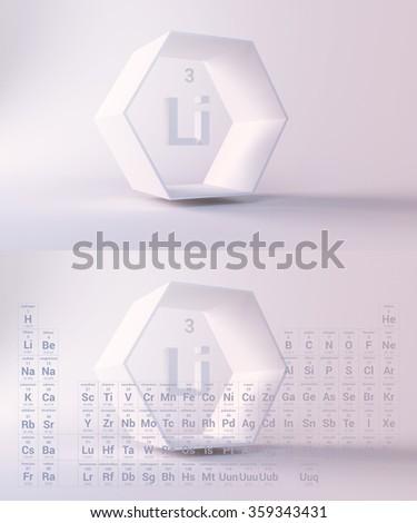 periodic table, Lithium - stock photo