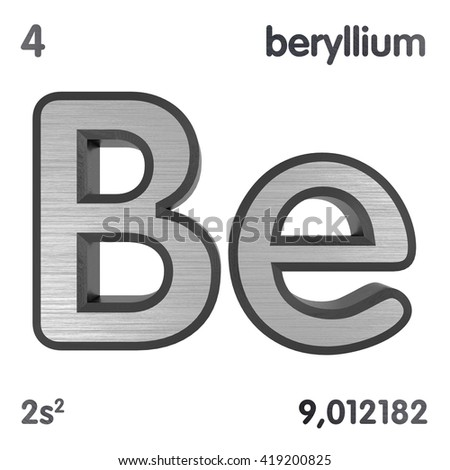 Periodic table elements bromine 3d title stock illustration periodic table of elements beryllium 3d title isolated on white 3d rendering urtaz Gallery