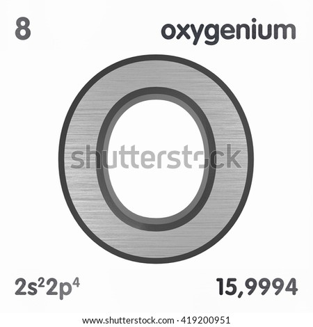 Periodic table elements oxygen 3 d title stock illustration periodic table of elements oxygen 3d title isolated on white 3d rendering urtaz Images