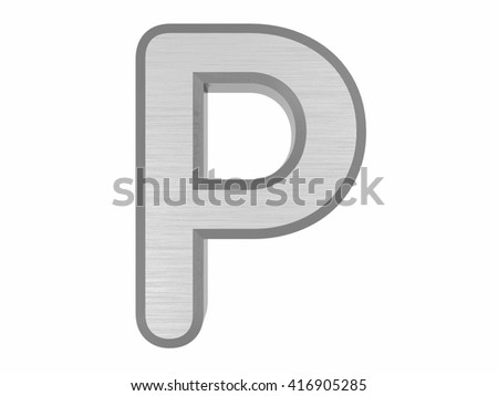 Periodic Table of Elements. Phosphorus. 3d title Isolated on white. 3D rendering - stock photo