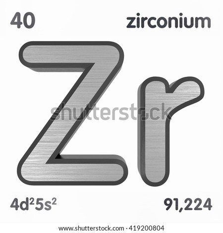 Periodic table elements zirconium 3 d title stock illustration periodic table of elements zirconium 3d title isolated on white 3d rendering urtaz Images