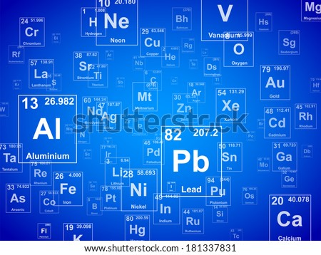 Periodic table of the elements. Background illustration  - stock photo