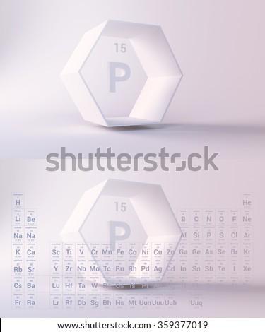 periodic table, Phosphorus - stock photo