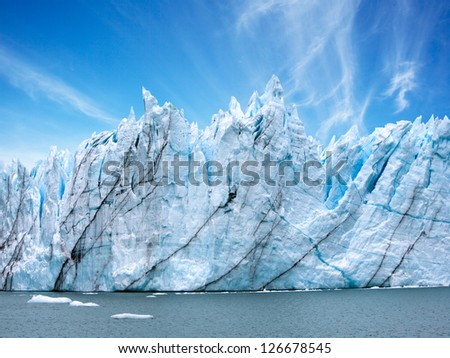 Perito Moreno Glacier, Argentina - stock photo