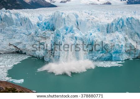 Perito Moreno glacier, El Calafate, Argentina. - stock photo