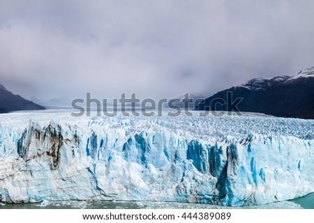 Perito Moreno glacier in National Park Los Glaciares, Argentina - stock photo