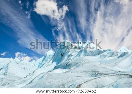 Perito Moreno glacier in Patagonia, Argentina. - stock photo
