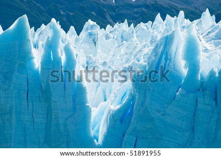 Perito Moreno Glacier, Patagonia, Argentina - stock photo