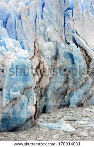 Perito Moreno Glacier, the world famous glacier in the Los Glaciares National Park, Argentina. - stock photo