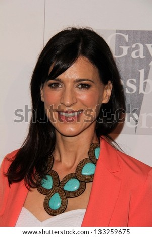 Perrey Reeves at the L.A. Gay And Lesbian Center Hosts 'An Evening' honoring Amy Pascal and Ralph Ricci, Beverly Wilshire, Beverly Hills, CA 03-21-13 - stock photo