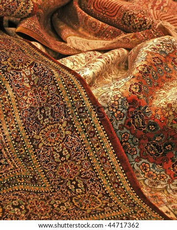 persian carpet - stock photo