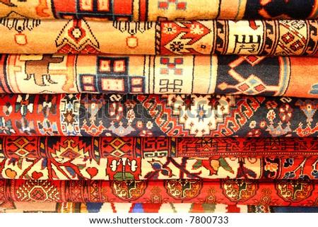 Persian carpets (Iranian carpets and rugs) - stock photo
