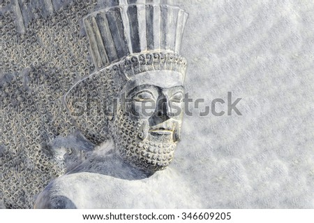 Persian Soldier - stock photo