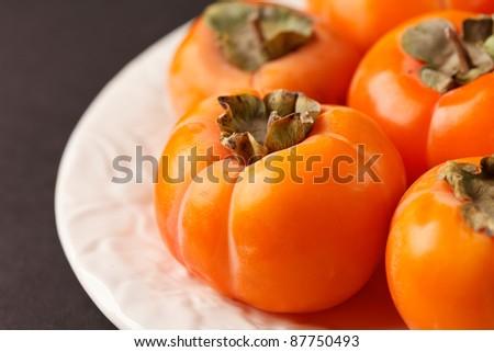 persimmon fruits - stock photo