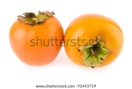 persimmon isolated on white background