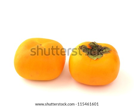 Persimmon isolated white background