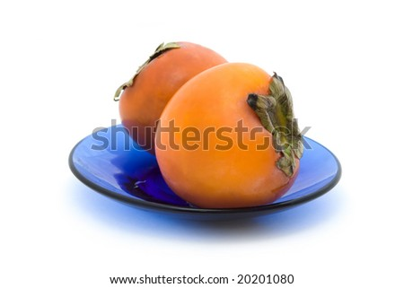 persimmons at the blue plate