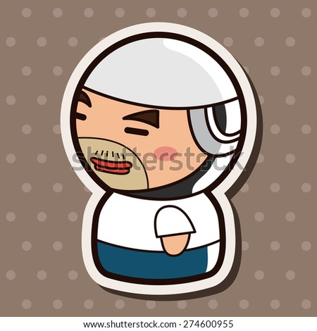 person character worker , cartoon sticker icon