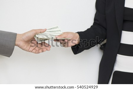Person  Giving Money To  hand