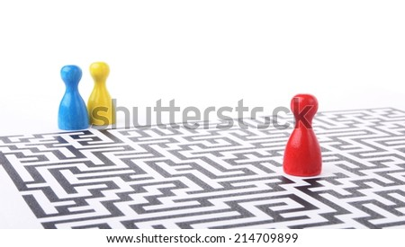 person have different options to find the correct way - stock photo