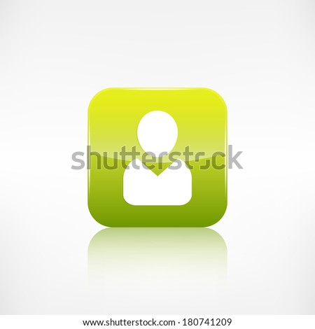 Person icon. Application button. - stock photo