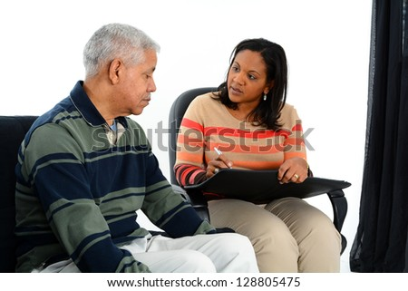 Person in need having a counseling session