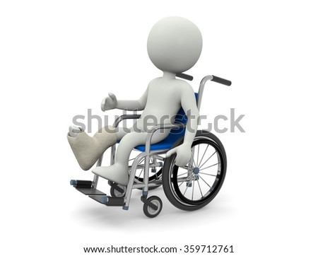Person  in wheelchair - stock photo