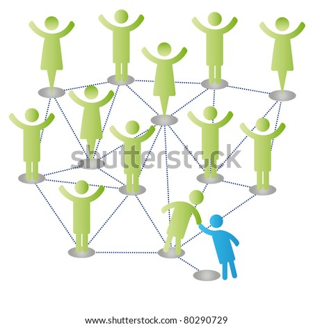 Person join people members company group - stock photo