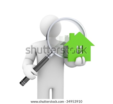 Person looking for a new home - stock photo