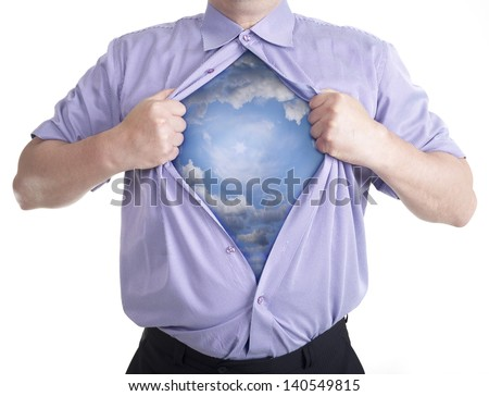 Person of deep soul. - stock photo
