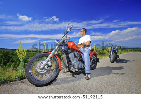Person on a bike - stock photo