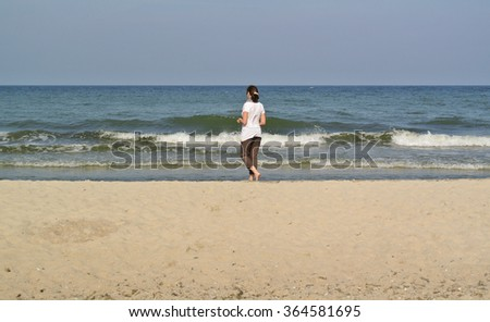 person on the beach