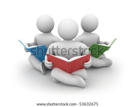 Person read book - stock photo