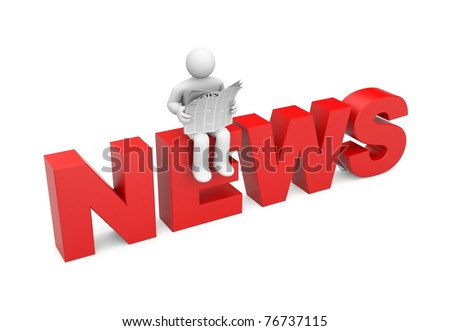 Person read newspaper. Image contain clipping path