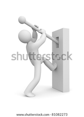 Person switch something - stock photo