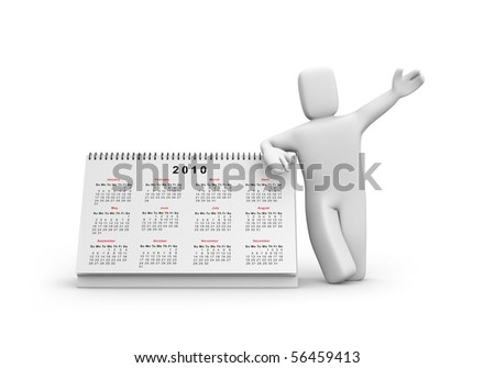 Person with calendar - stock photo