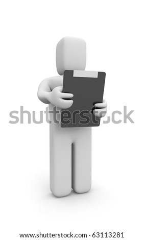 Person with clipboard - stock photo