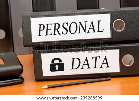 Personal Data - Data Security - stock photo