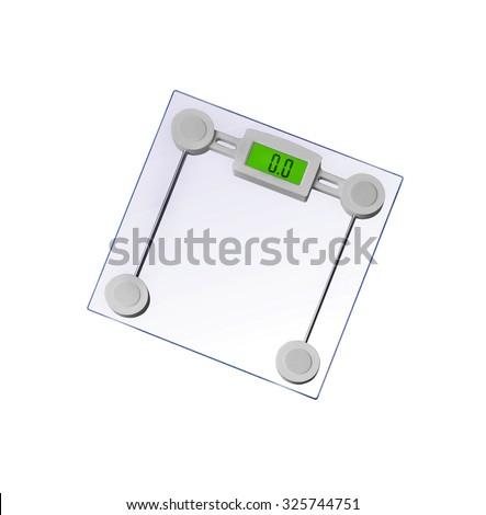 personal designet scale - stock photo