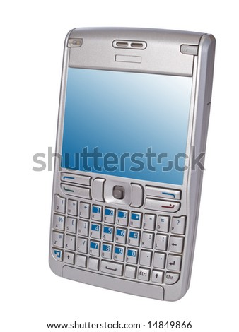 personal digital assistant smartphone isolated on white - stock photo