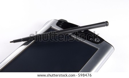Personal digital assitant over white background - stock photo