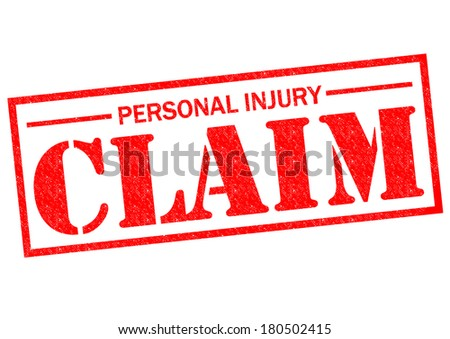 PERSONAL INJURY CLAIM red Rubber Stamp over a white background. - stock photo