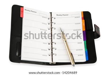 personal organizer - stock photo