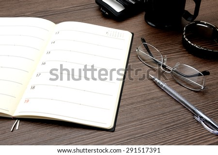Personal organizer and business items - stock photo