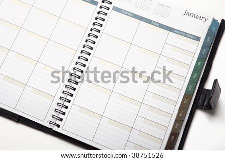 Personal Organizer Calendar - stock photo