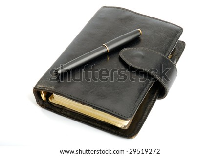 Personal Organizer (Diary) Isolated - stock photo