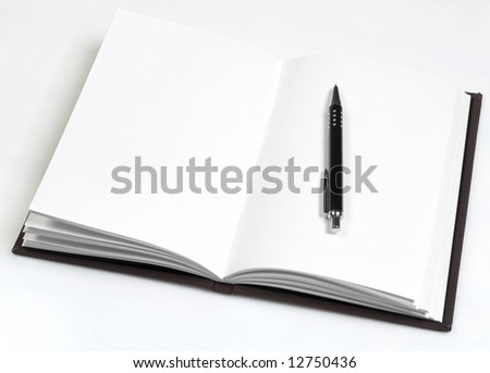Personal planner with blank pages - stock photo