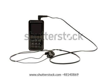 personal stereo isolated on a white background - stock photo
