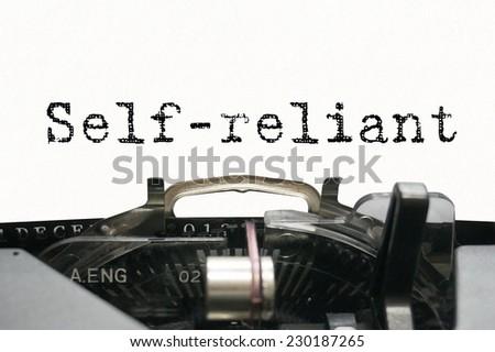 Personality characteristic - Self-reliant - stock photo