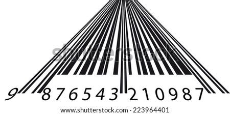 Perspective barcode - stock photo
